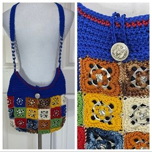 Vintage crochet pop tab purse